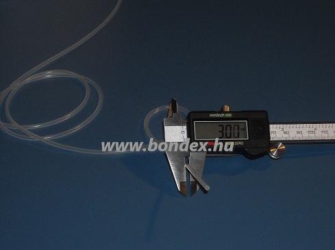 1x3 mm szilikon cső RC modellhez