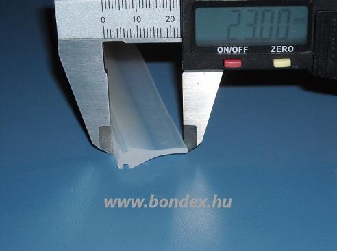 Ajtó tömítő profil 7x23 mm