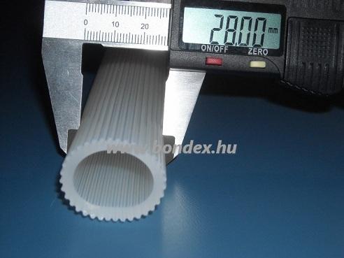 21x28 mm-es bordás szilikon cső