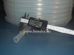 Élelmiszeripari szilikon cső 12x14 mm