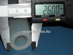 Élelmiszeripari szilikon cső 16x26 mm