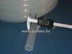 Élelmiszeripari szilikon cső 20x26 mm