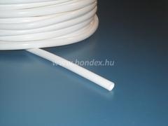 Fehér színű szilikon cső
