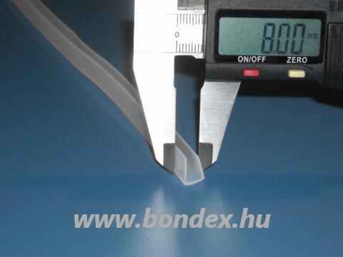 Vékony falú szilikon élvédő 6 mm-es élhez