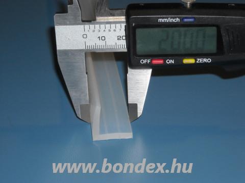 20x20 mm-es L alakú szilikon sarok élvédő profil