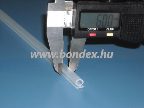 Nyílászáró tömítő omega profil 6 mm-es tömítőfejjel
