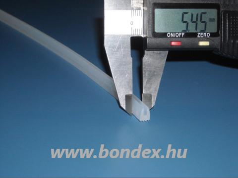 Lemezrögzítő szilikon profil 1 mm-es élhez