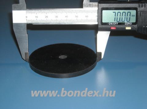 Lapos szilikon tömítőgyűrű d 8,5X70 mm