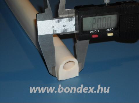 Szilikon D profil 18x20 mm ø13 mm