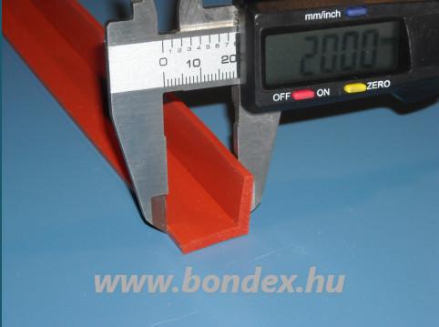 Sarok élvédő szilikon profil 20x20 mm