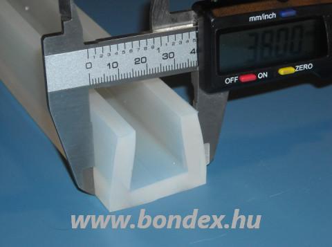 Szilikon élvédő profil 24 mm-es lemez vastagsághoz