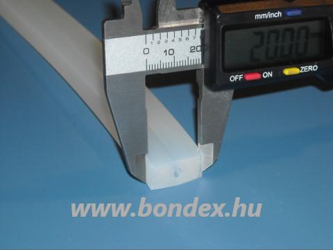 10x20 mm szilikon szalag 4 mm-es furattal