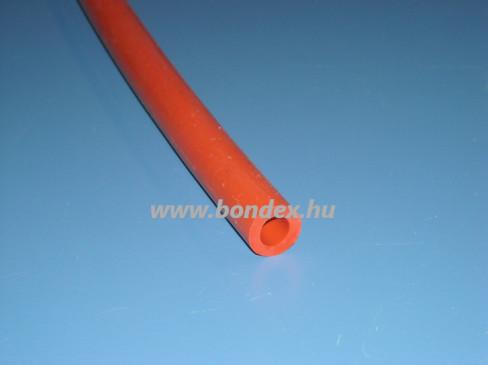 hőálló vörös szilikon tömlő 9x15 mm-es méretben