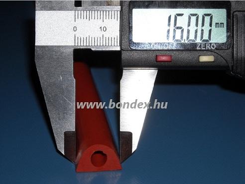 magas hőállóságú szilikon kemence tömítés ( hőálló D profil  )