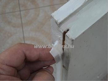 ajtó hézagtakaró szilikon profil